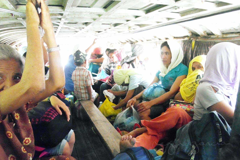 Passengers of Leon, Iloilo Jeepney.