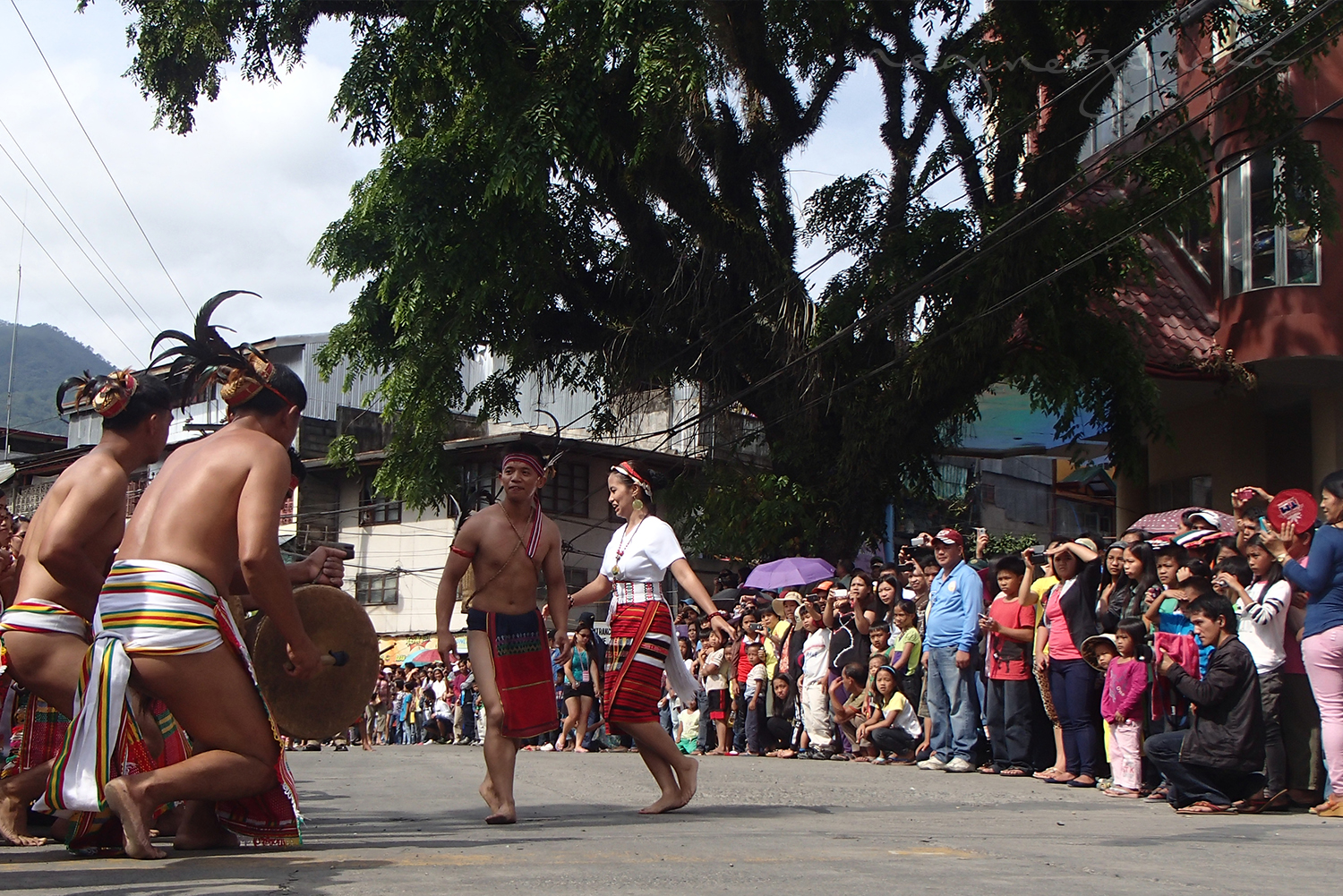 Lang-ay Festival on the street of Bontoc, Mountain Province.