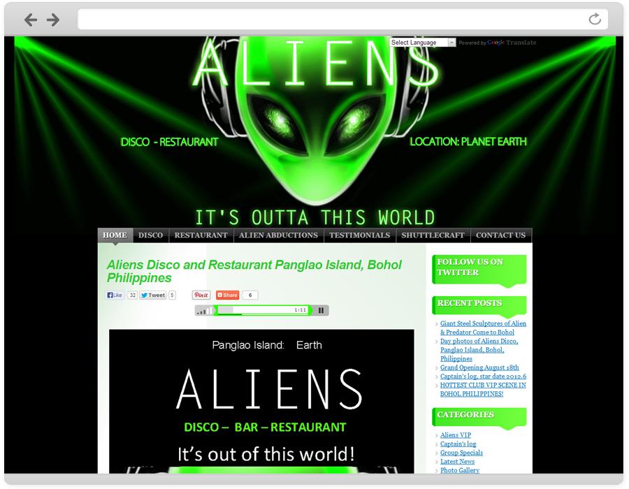 web design aliens