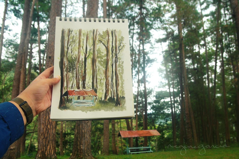 bucari leon painting pine trees