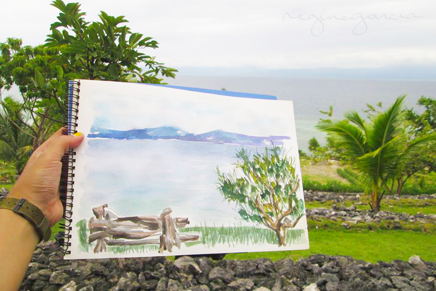 terra manna view painting