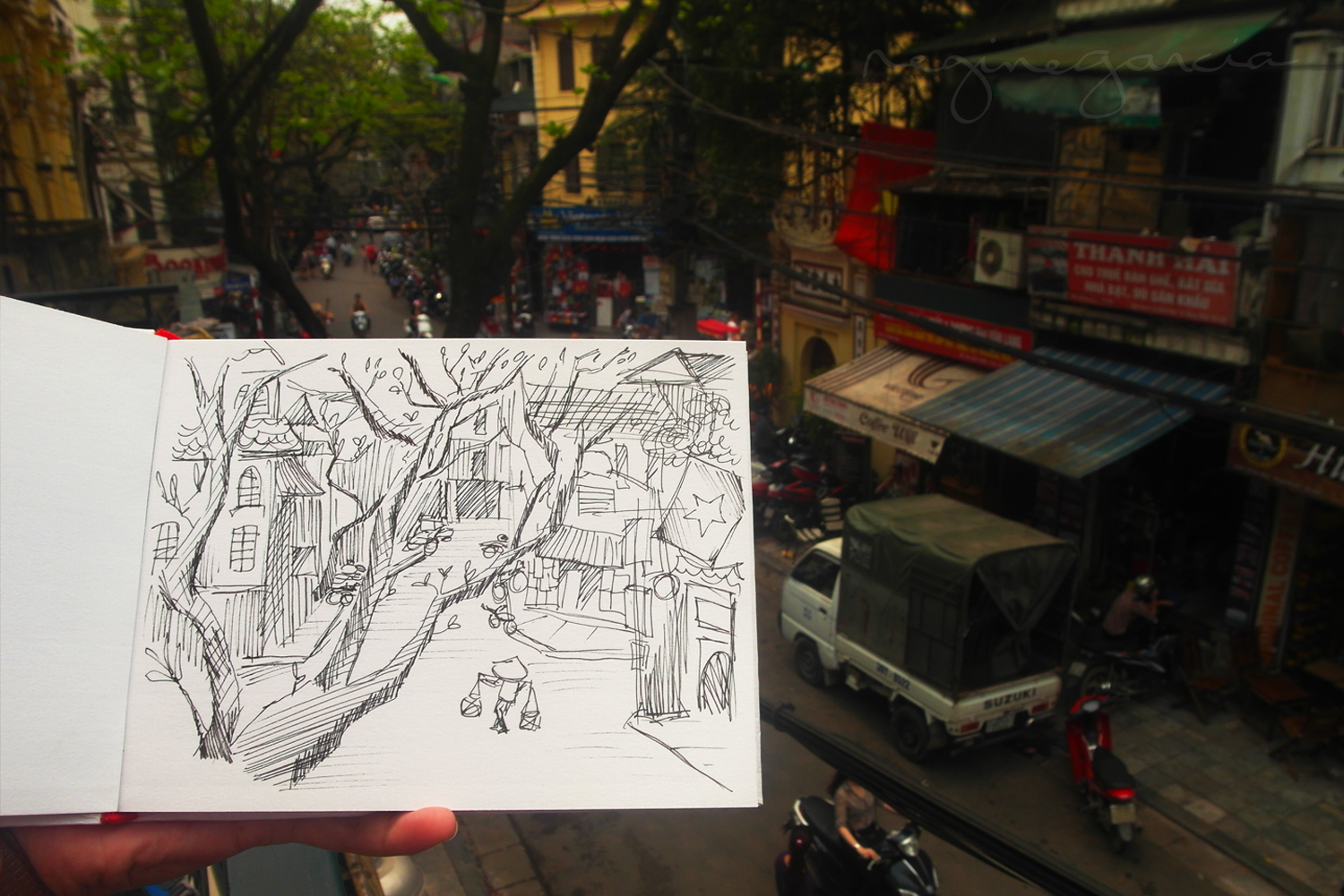 rough sketch in vietnam